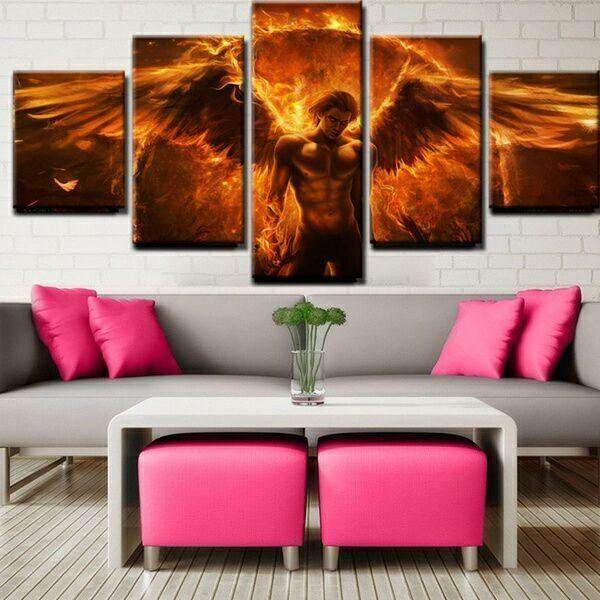 2017 5 Panel Personalized Magical Canvas Art Painting Living Room - living room canvas art