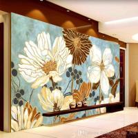 Vintage 3d Wallpaper Painting Flowers Wall Murals Custom ...
