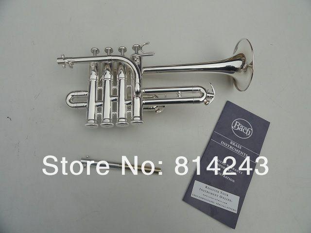 Best US Bach B Piccolo Trumpet Silvering Trompeta Three Tone