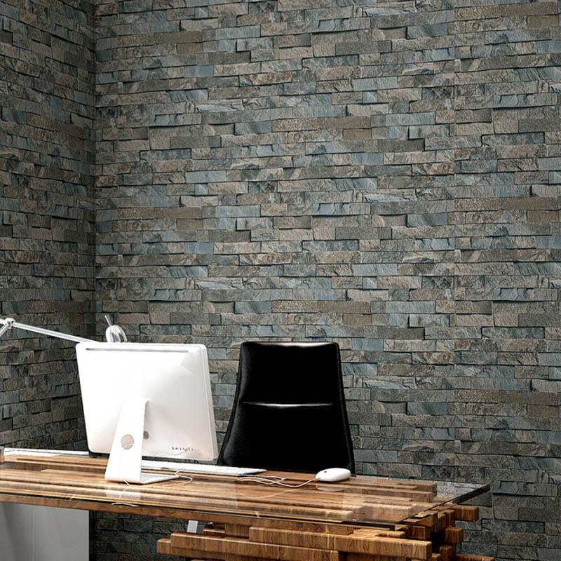 3d Stereo Retro Imitation Brick Pattern Stone Masonry Culture