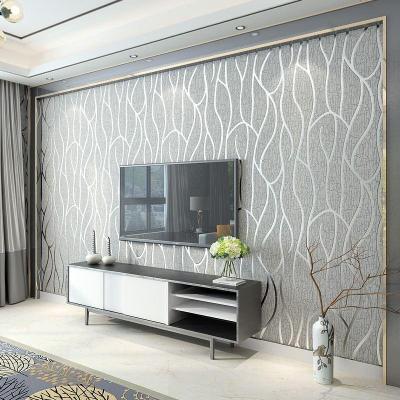 Modern Minimalist Non Woven Wallpaper, Living Room Tv, Wall, 3d, Wallpaper, Bedroom, Film And ...
