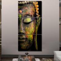 2017 HD Printed Canvas Wall Art Buddha Meditation Painting ...