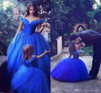 2017 Royal Blue Toddler Flower Girls Dresses For Weddings ...
