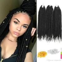 2019 6 Pack Crochet Hair Extensions Box Braids 18inch Re ...