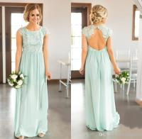 Ice Blue Bridesmaid Dresses Lace Top Country Wedding Guest ...