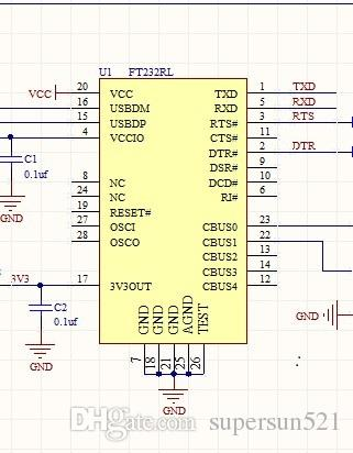USB To RS232 USB To RS485 FT232RL Schematic TTL5V 232 Usb2RS485