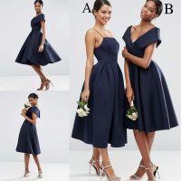 Vintage 2018 Navy Blue Off The Shoulder Bridesmaid Dresses ...