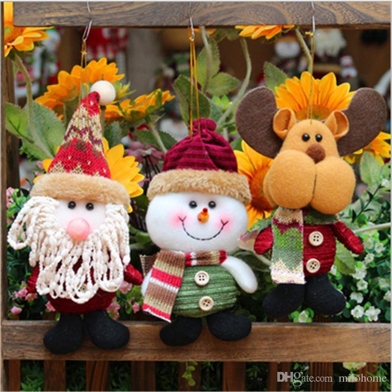 Creative Christmas Small Doll Santa Claus Snowman Elk Doll Perfect - large christmas decorations