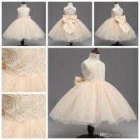 Online Cheap Girls Dress Beige Baby Girls Wedding Dresses ...
