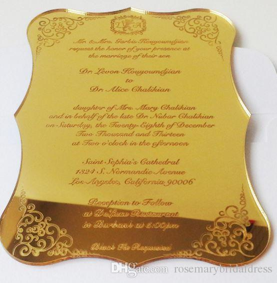 Acrylic Invitation Wedding Fantastic Business Invitation Card