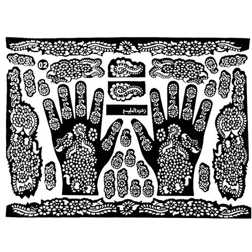 Wholesale-Tattoo Templates Hands/Feet Henna Tattoo Stencils for