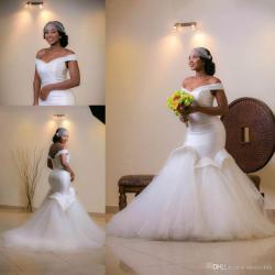 Exquisite Sizearabic Wedding Dress Bling Bridal Gowns 2018 Lace Mermaid Wedding Dressesmermaid Sexy Off Shoulder African Wedding Dresses Mermaid Beaded Plus Sexy Off Shoulder African Wedding Dresses M