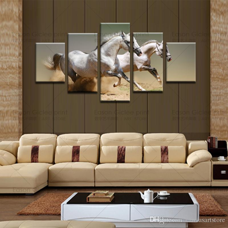 2017 Canvas Painting Canvas Art Prints Artwork Horse Painting For - living room canvas art