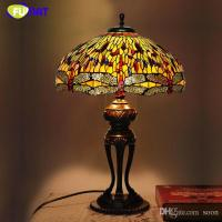 2018 Creative Tiffany Table Lamp Antique Dragonfly Living ...