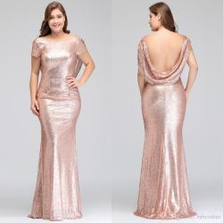Swish Size Rose G Bridesmaid Dresses Long 2018 New Women Plus Size Rose G Bridesmaid Dresses Long 2018 New Women Mermaid Sequined Evening Prom Party Gown Celebrity Formal Dressplus Size Urban
