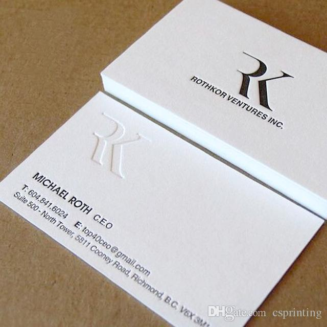 Letterpress 600gsm Business Cards Custom Silver Golden Foil Thick