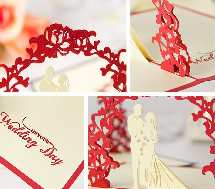 Valentine Day Wedding Cards Invitations Delicacy Gift Handmade