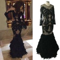 Hot African Mermaid Prom Dresses With Feathers Long ...