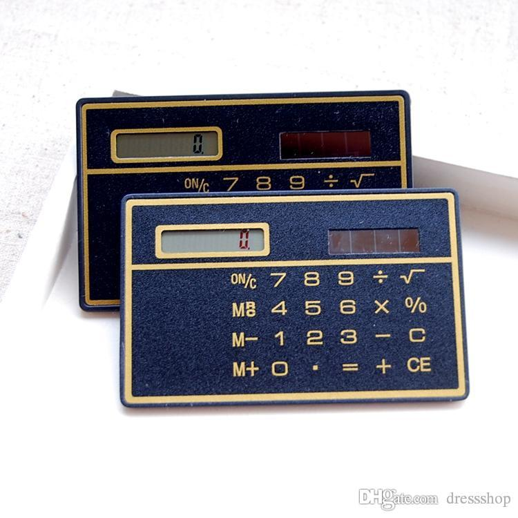 2019 Cute Ultra Thin Portable Card Calculator Ultrathin Calculator