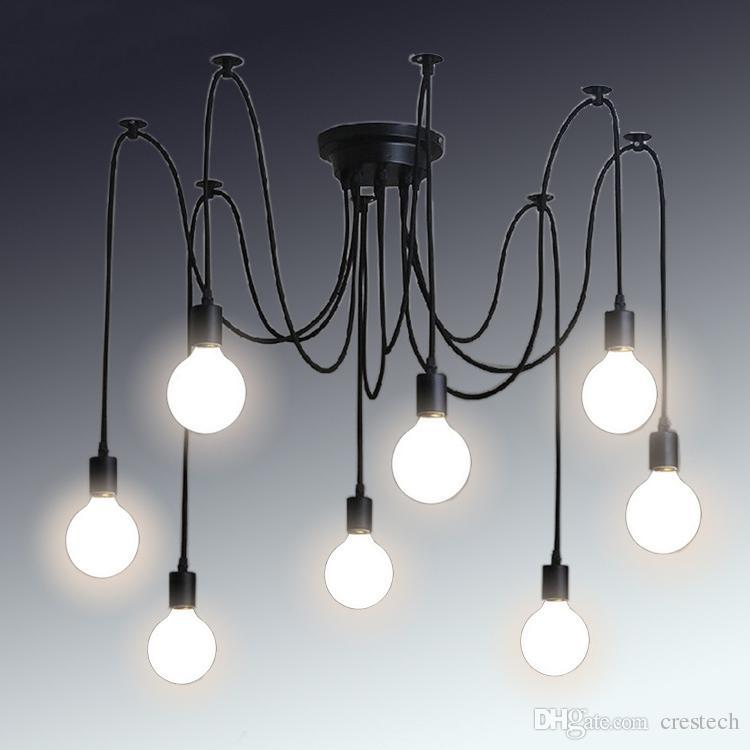 Retro Classic Chandelier E27 Spider Lamp Pendant Bulb Holder Group
