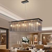 Crystal Lamp Rectangular Dining Room Pendant Lights Hotel ...