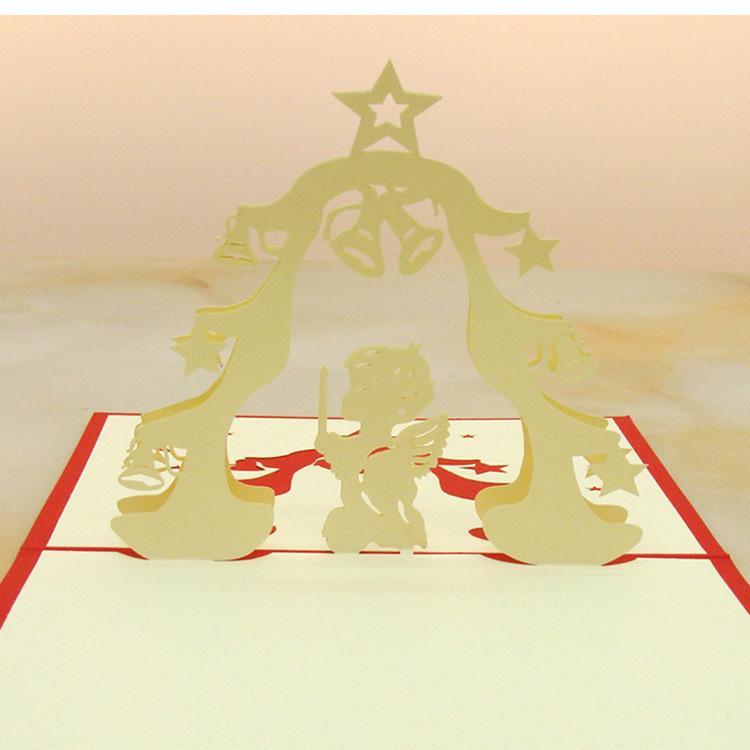 Wedding Party Invitations 3D Foldable Cartoon Kids Birthday Greeting