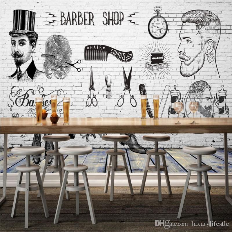 Free 3d Wallpaper For Cell Phones 3d Stereo Custom Hd Vintage Barber Shop Background Wall