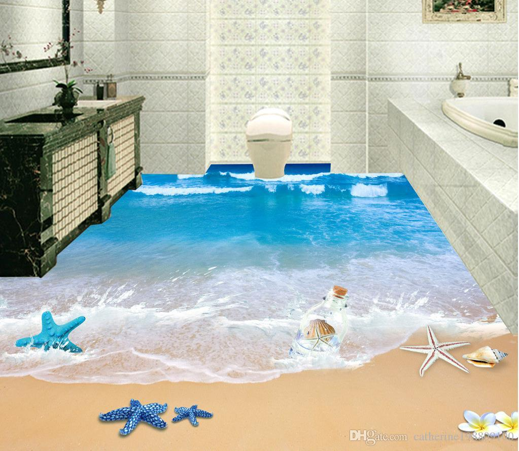 3d Wallpaper For Bedroom Wall India Top Classic 3d European Style 3d Beach Bathroom With Floor