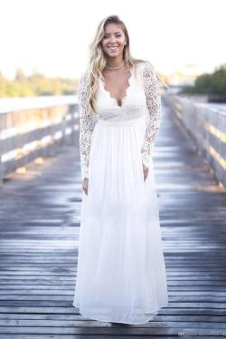 Small Of Long Sleeve Lace Wedding Dress