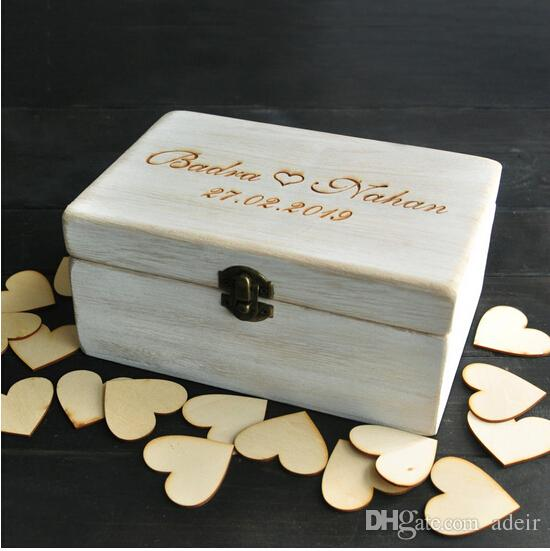 2019 Wholesale Custom Wedding Guest Book Box, Personalized Memory