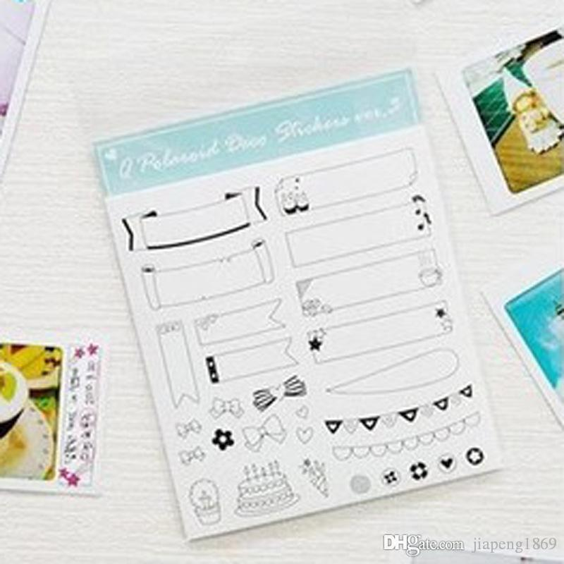 2018 6sheets/Pack Diy Polaroid Diary Stickers Toy For Photos - diary design