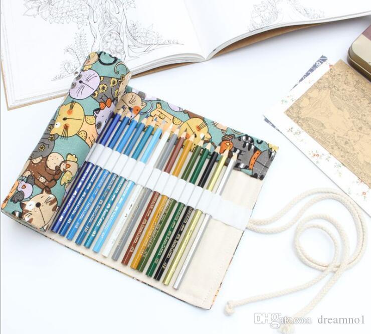 Large Pencil Case Creative Cute Cat Pattern Pen Bag Office Supplies