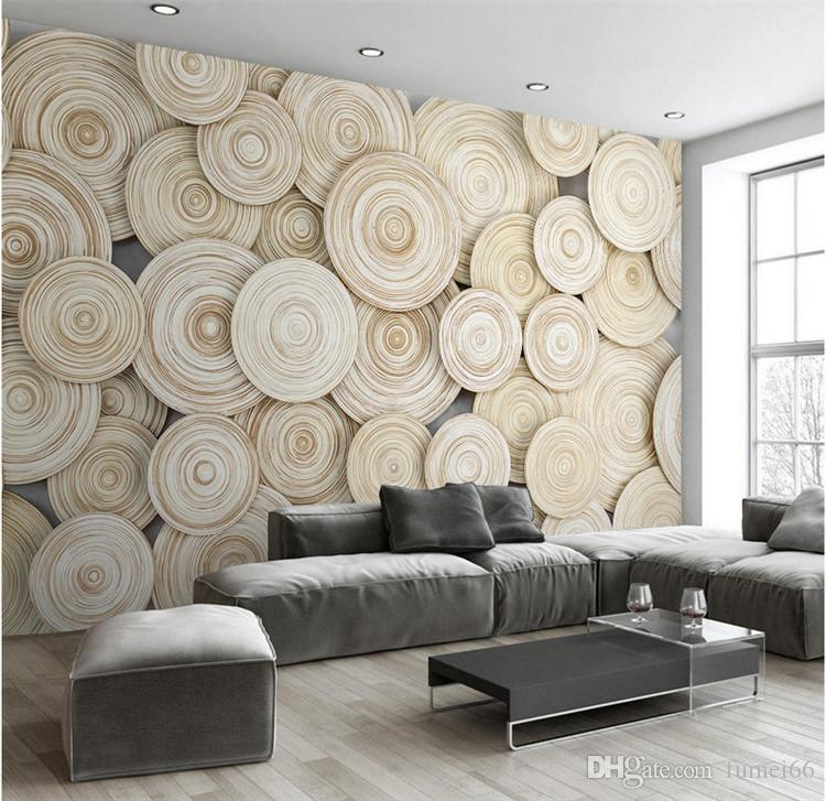 3d Effect Wallpaper For Living Room Large Custom Mural Wallpaper Modern Design 3d Wood Texture
