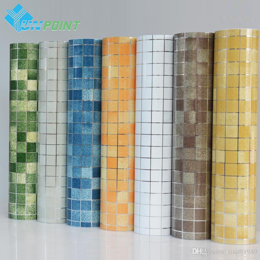Kitchen wall sticker pvc mosaic tile wallpaper bathroom