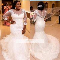 Plus Size African Wedding Dresses Mermaid Romantic Black ...