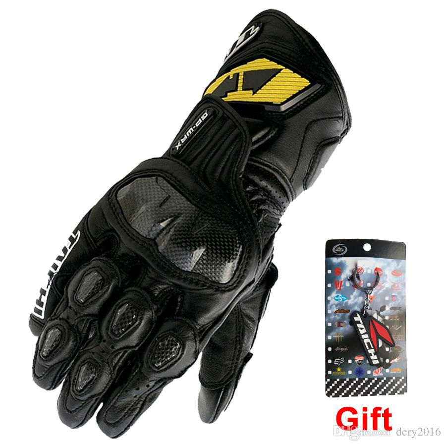 New men s winter motorcycle gloves gp pro rs taichi real leather glove carbon fiber racing moto