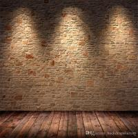 Indoor Brick Wall Photography Backdrop with Light Brown ...