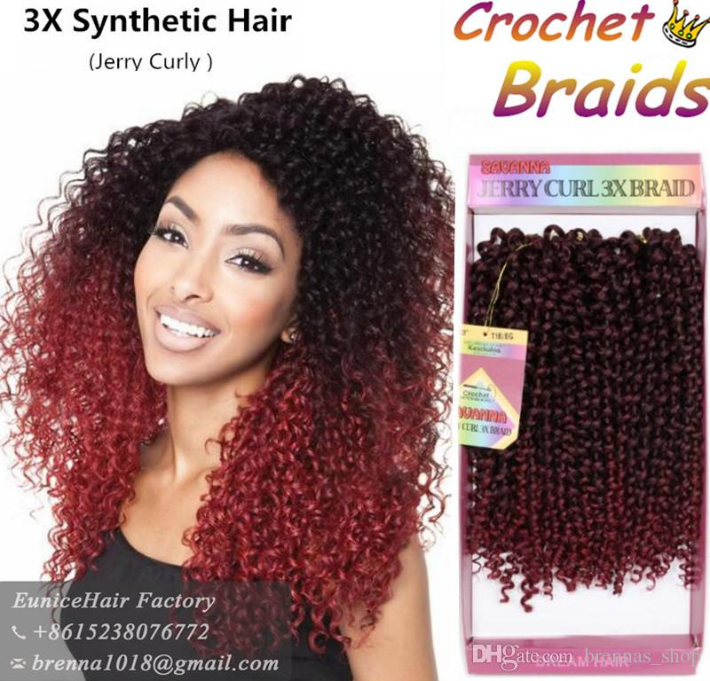 2018 Freetress Braids Pre Looped Wand Curl Crochet Hair