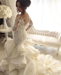 2017 Vintage Luxury Crystal Big Ball Gown Satin Wedding ...