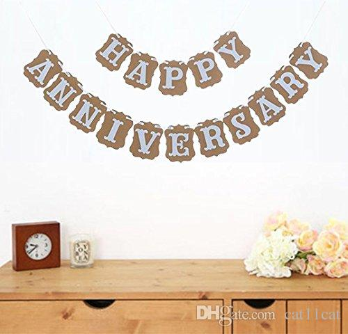Happy Anniversary Banner Garland Bunting Sign Party Decoration