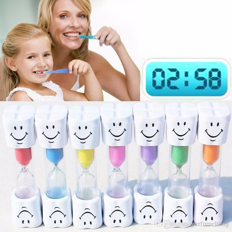Children Kids Toothbrush Timer Smiling Face 3 Minute Smile Sandglass
