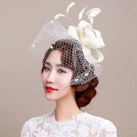 Fascinator Bridal Headpiece Wedding Veils with Feather ...