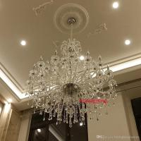 Modern Large Crystal Chandelier For Foyer Big Crystal ...