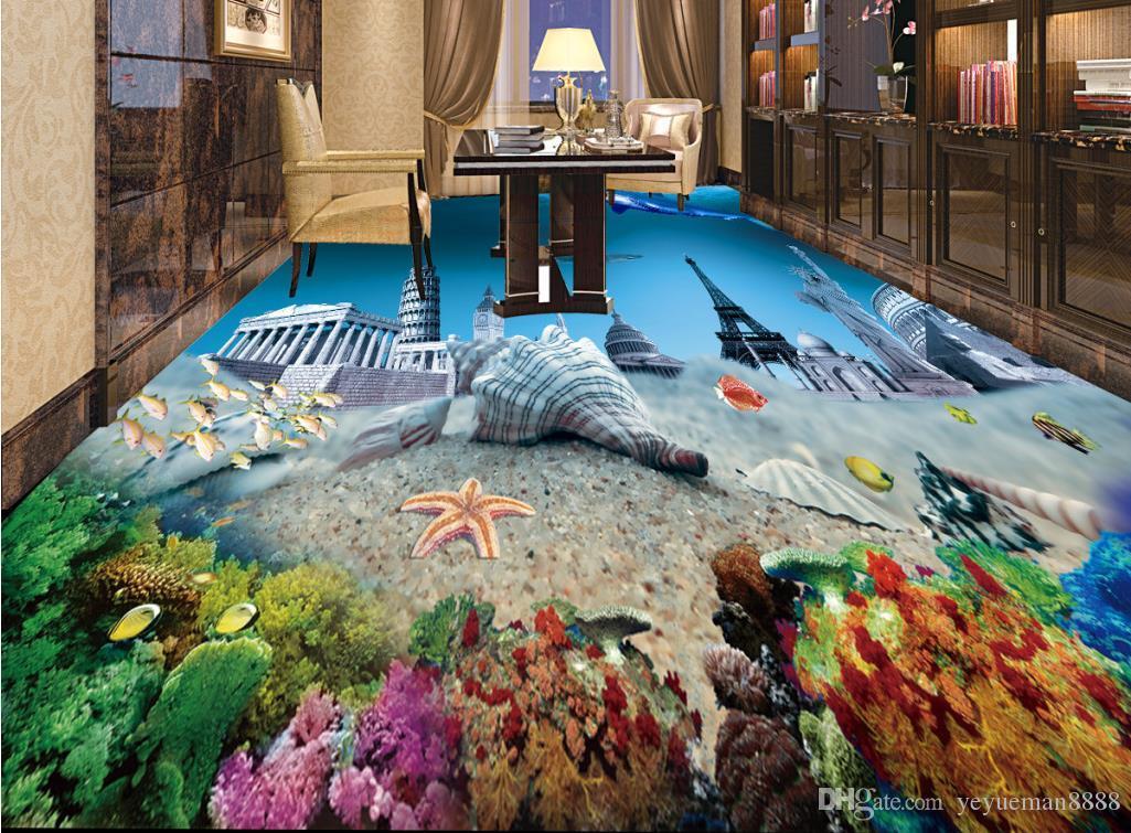 Wallpaper Luxus 3d Flooring Custom Wall Paper Rolls Beach