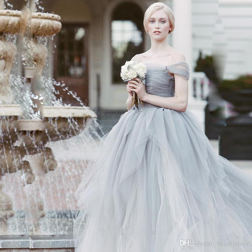 Elegant Sheer Layered Tulle Ball Gown Wedding Dresses 2017 Off