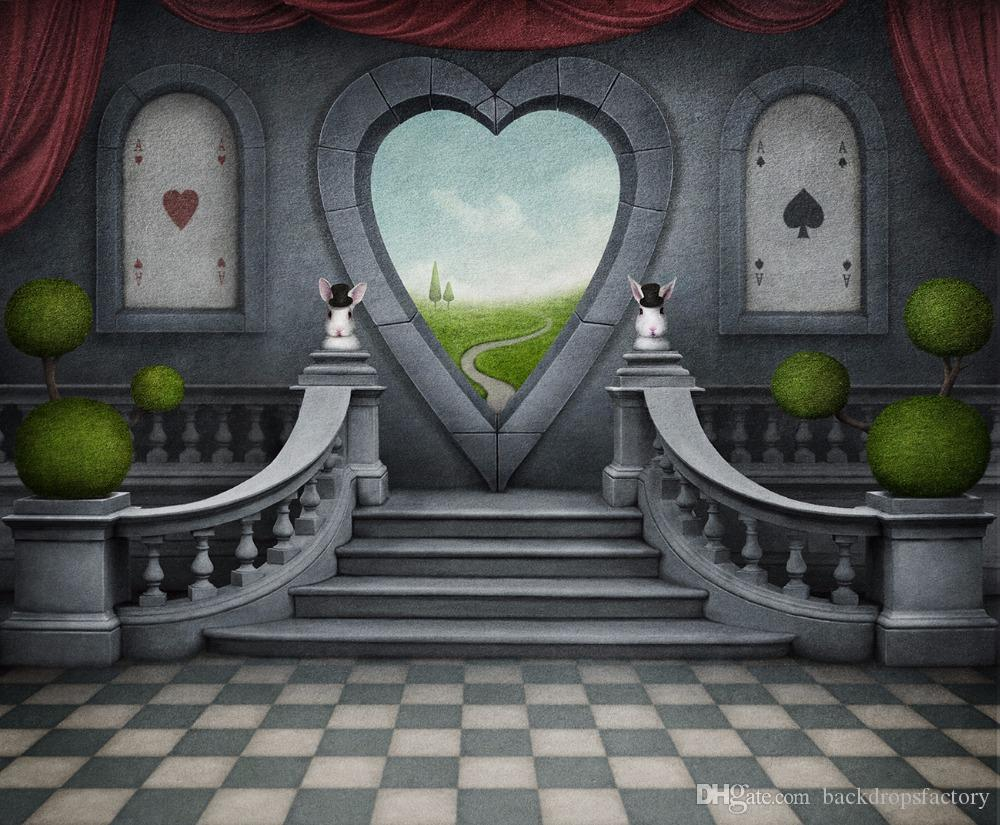 Falling Down The Rabbit Hole Wallpaper 2019 Retro Vintage Photography Background Magic Show Heart