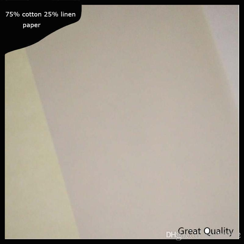 A4 Size Plsy Brand Resume Paper Cotton Linen Fiber 22lb White Color
