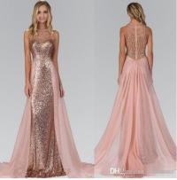 2017 Chic Rose Gold Sequined Bridesmaid Dresses With ...