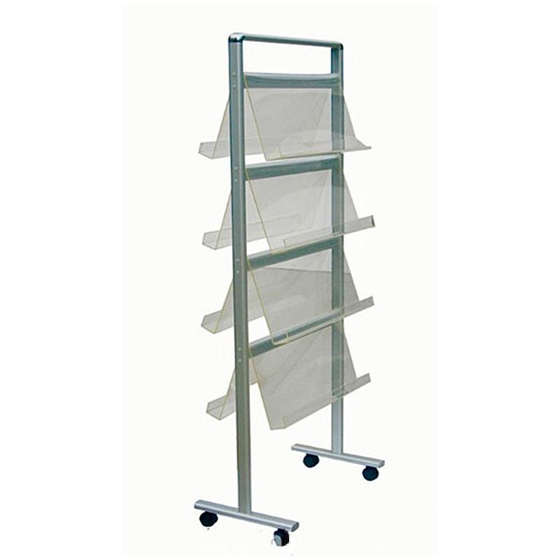 2018 Stairs Brochure Stand/Mobile Literature Rack With Lightweight