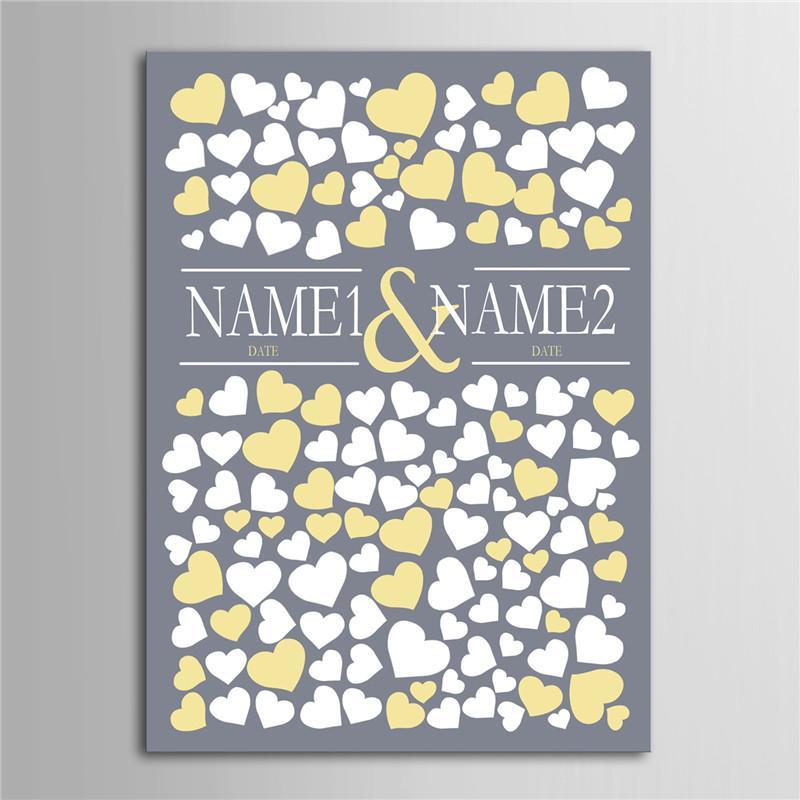 2019 Wholesale Personalized Canvas Wedding Guest Book Wedding Decor